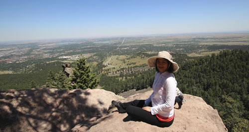 view from Royal Arch, Boulder
