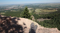 View from Royal Arch in Boulder